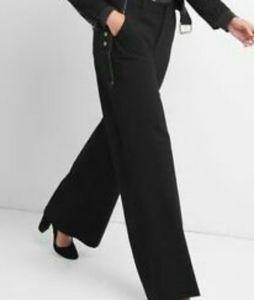 GAP Heathered Navy Ponte Knit Wide Legged Pant
